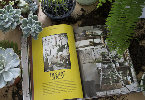 Decorating With Plants' (The Art Of Using Plants To Transform Your Home) by Satoshi Kawamoto in a bed of plants and succulents