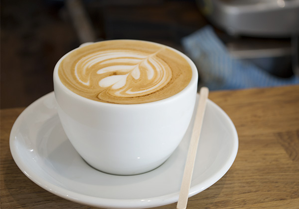 A latte from Deaf Cat Coffee, Rochester