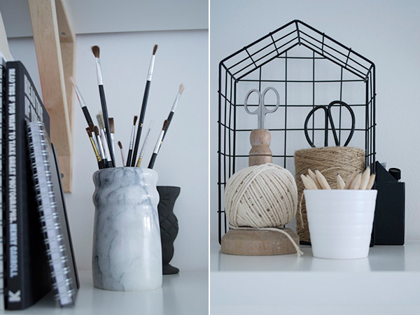A closer look at the details in my minimal workspace makeover