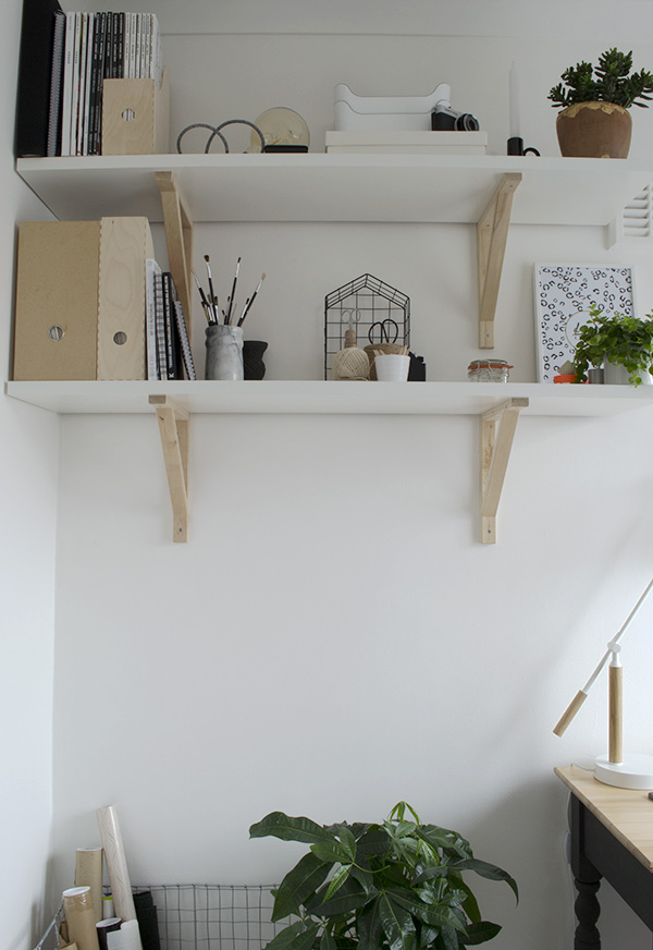 Mix and match IKEA shelving in my Scandi inspired, minimal workspace