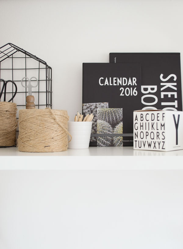Arne Jacobsen Design Letters Collection calendar and sketchbook in my updated summer workspace