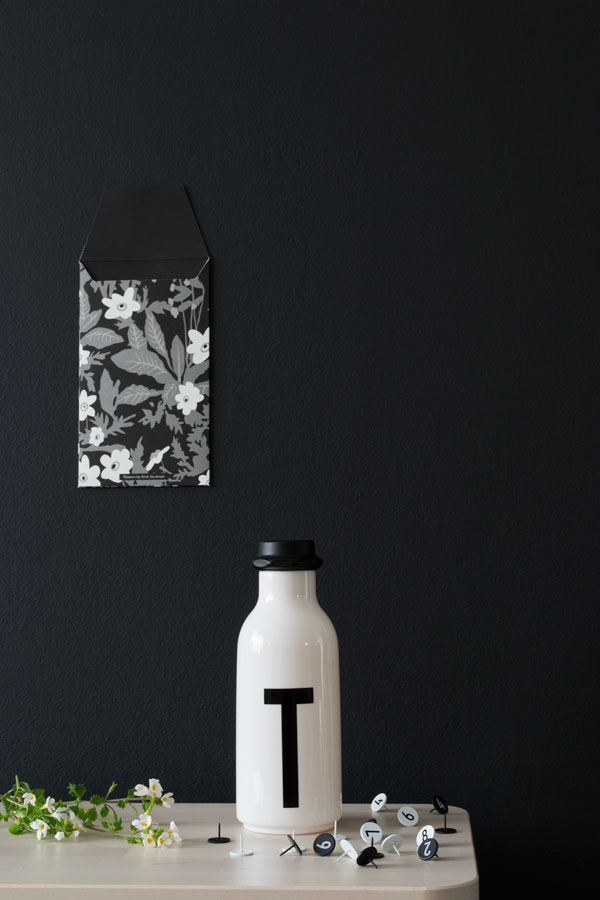 Arne Jacobsen Design Letters Collection Water Bottle in my Summer Workspace