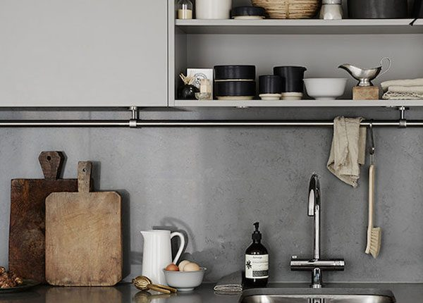 New Nordic grey kitchen styling, photography © Kristofer Johnsson, styling Josefin Hååg