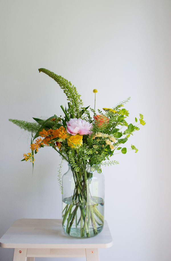 Enjoying a gorgeous bouquet of flowers like this one from Bloomon is one of my every day slow living tips