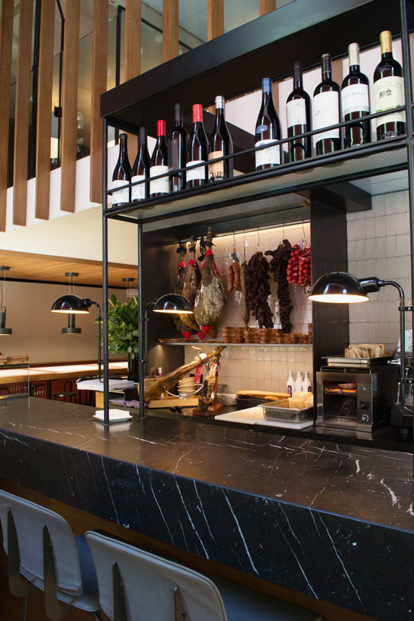 Solomillo Restaurant and Charcuterie at boutique Barcelona hotel, hotel Alexandra Barcelona