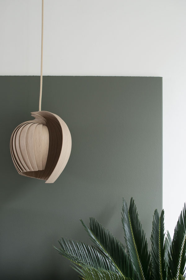 Kovac Family L25 Lamp in oak, designed and made in Stockholm