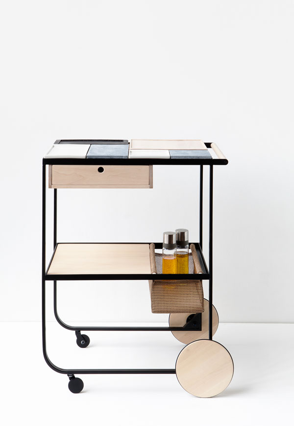 Palat serving trolley designed by Maiju Uski at the London Design Festival 2016