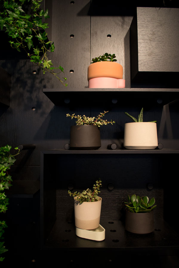 Ann Kristin Einarsen's ceramic planters at London Design Fair 2016