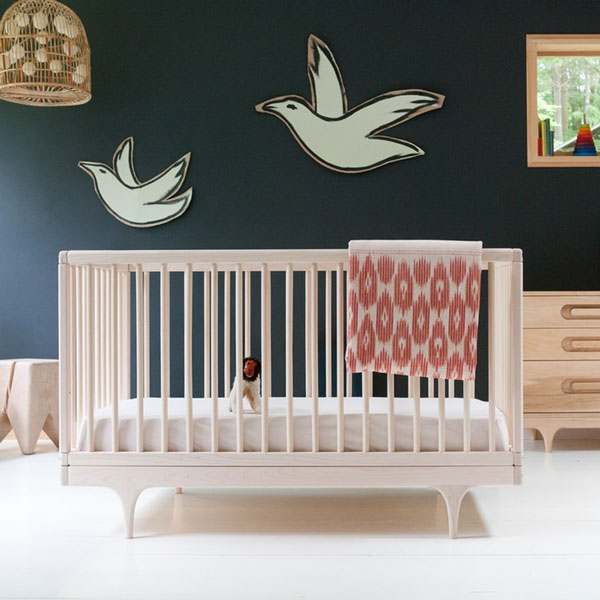Kalon nursery cot from Nubie, the ultimate contemporary kids room inspiration