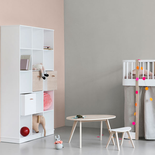 Contemporary kids room inspiration from this Oliver Furniture storage at Nubie