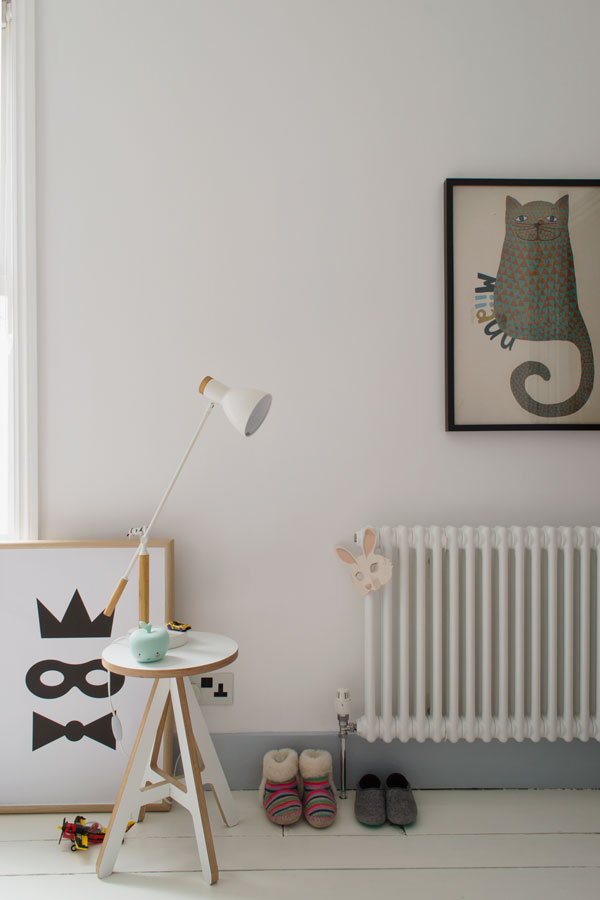 Decorative details in our modern Scandi kids bedroom