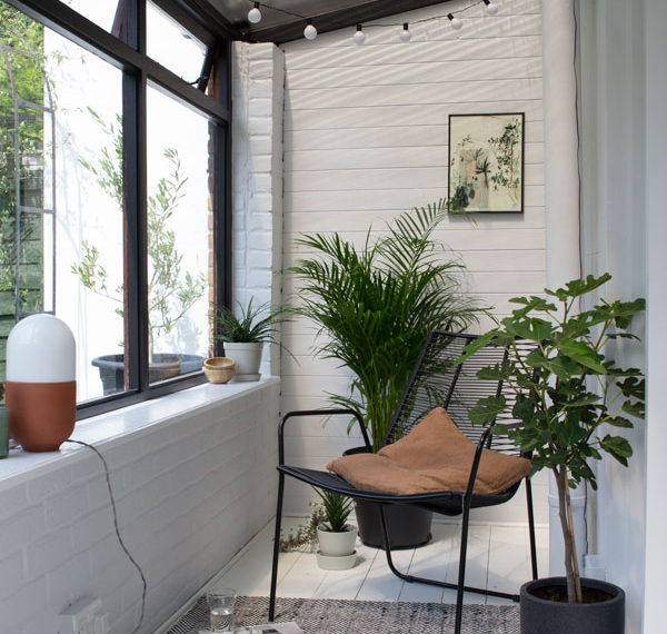 botanical, scandi sun room makeover, sunroom makeover, minimalist sunroom, garden room, Scandinavian sunroom
