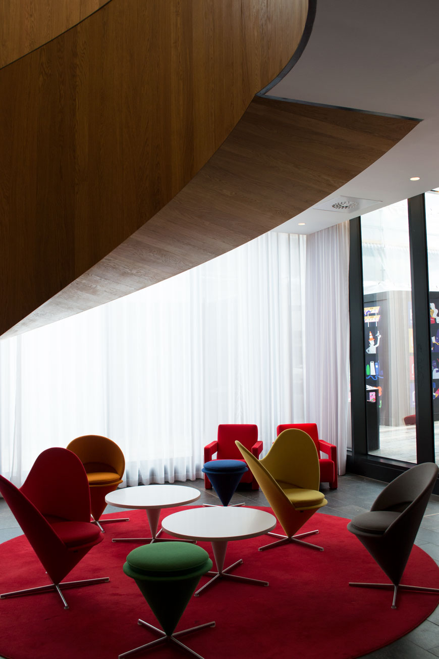 Vitra furniture in the CitizenM design hotel, Shoreditch