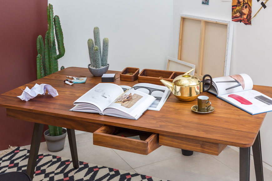 The Orson desk, designed by Matthew Hilton and part of my Heal's British Designers window styling