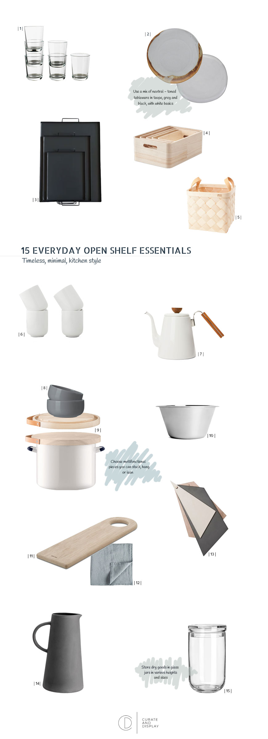 how to style open shelves, how to style wire shelves, kitchen accessories, New Nordic kitchen,  monochrome kitchen accessories