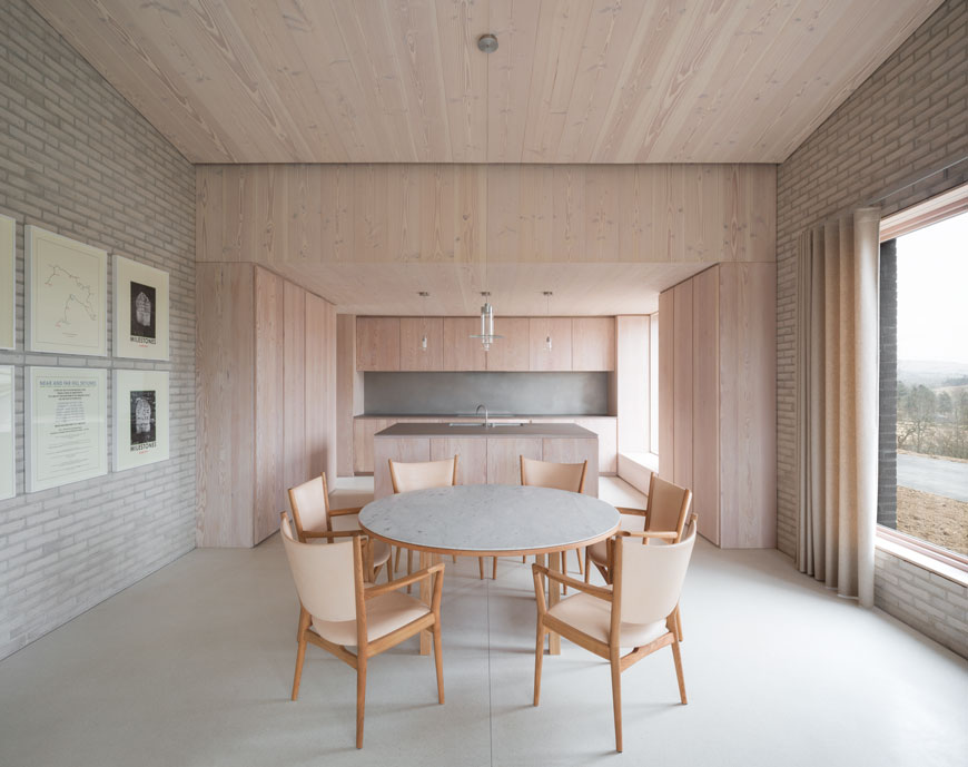 unique architectural holiday home experience, The Life House, John Pawson, Living Architecture, timber clad walls, white brick interior