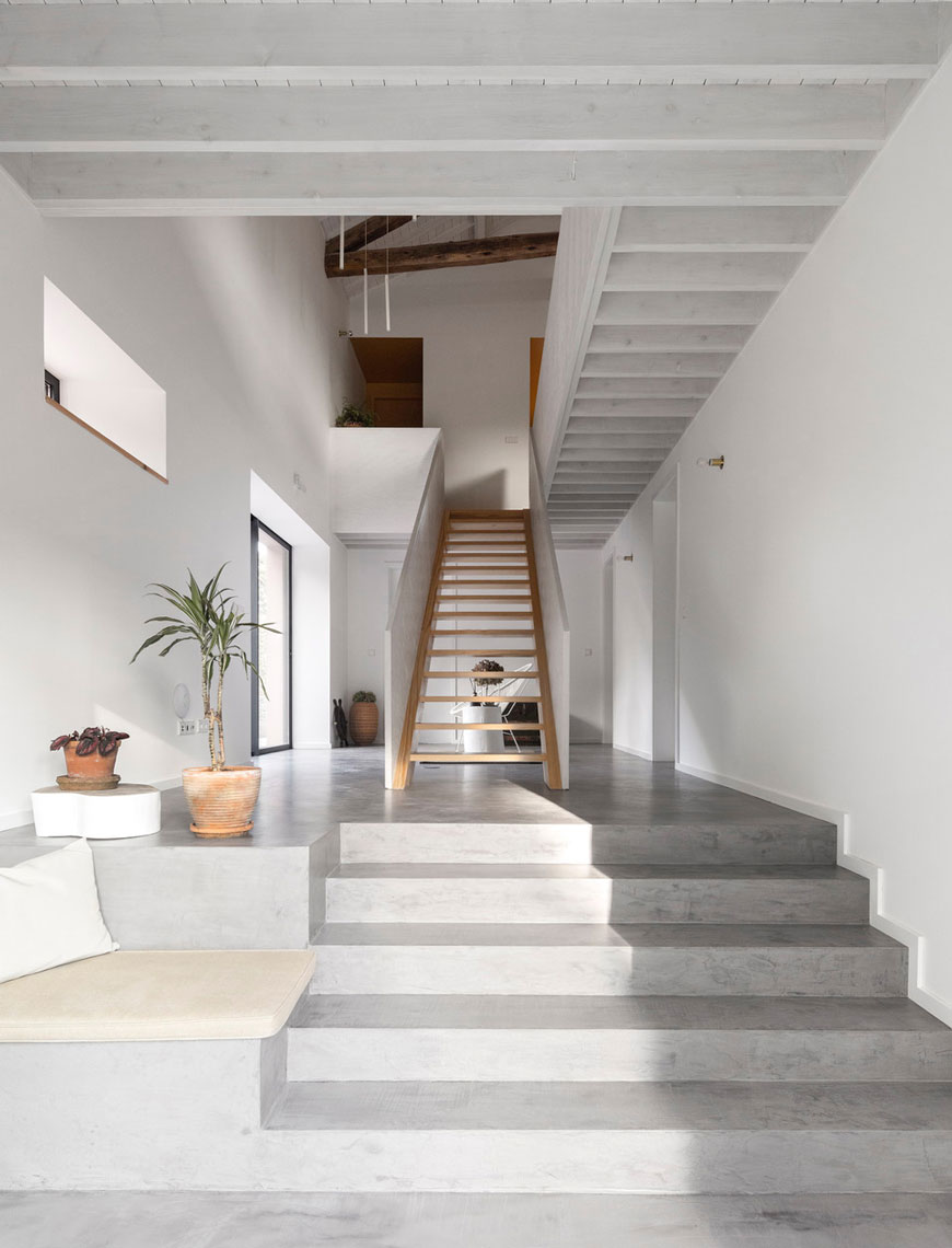 unique architectural holiday home experience, The Pink House, Azores Islands Portugal, minimalist interior, whitewashed timber, rustic contemporary holiday home, converted barn