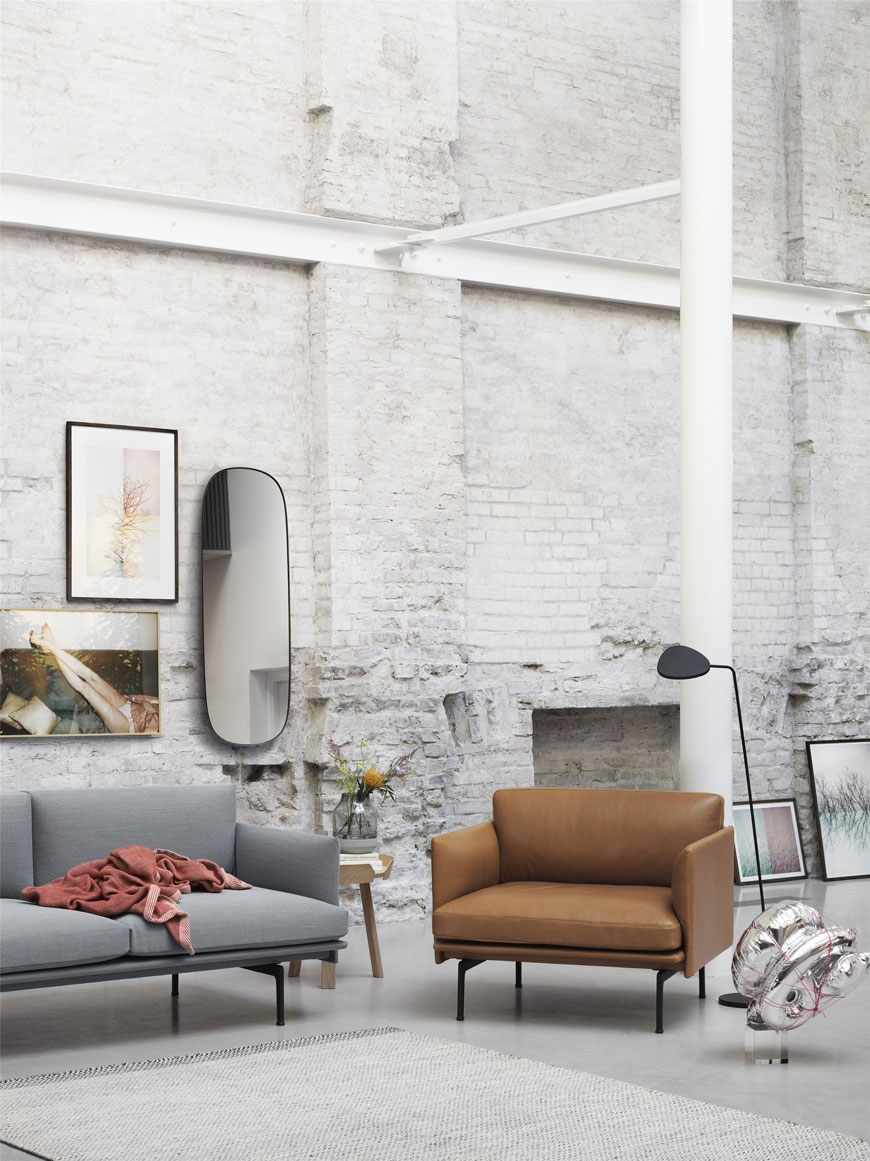 Outline Chair design by Anderssen & Voll for Muuto, Nordic sofa chairs, snuggler chairs, leather loveseats