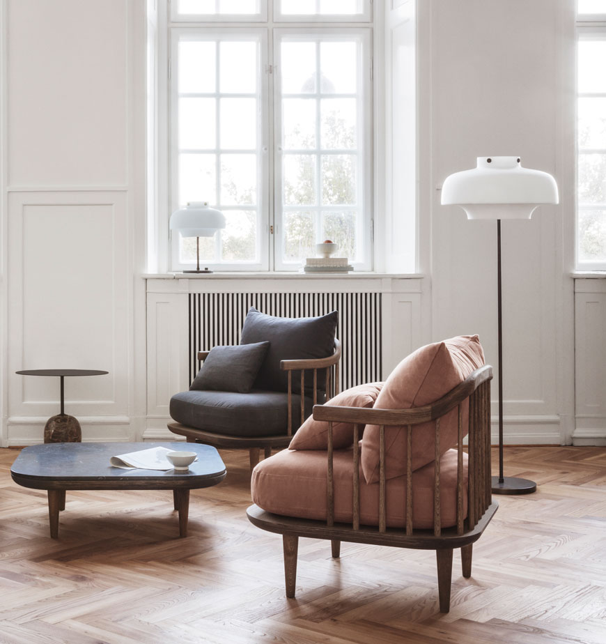 &tradition Fly Chair designed by Space Copenhagen, Nordic sofa chair, Snuggler chairs, Scandinavian design