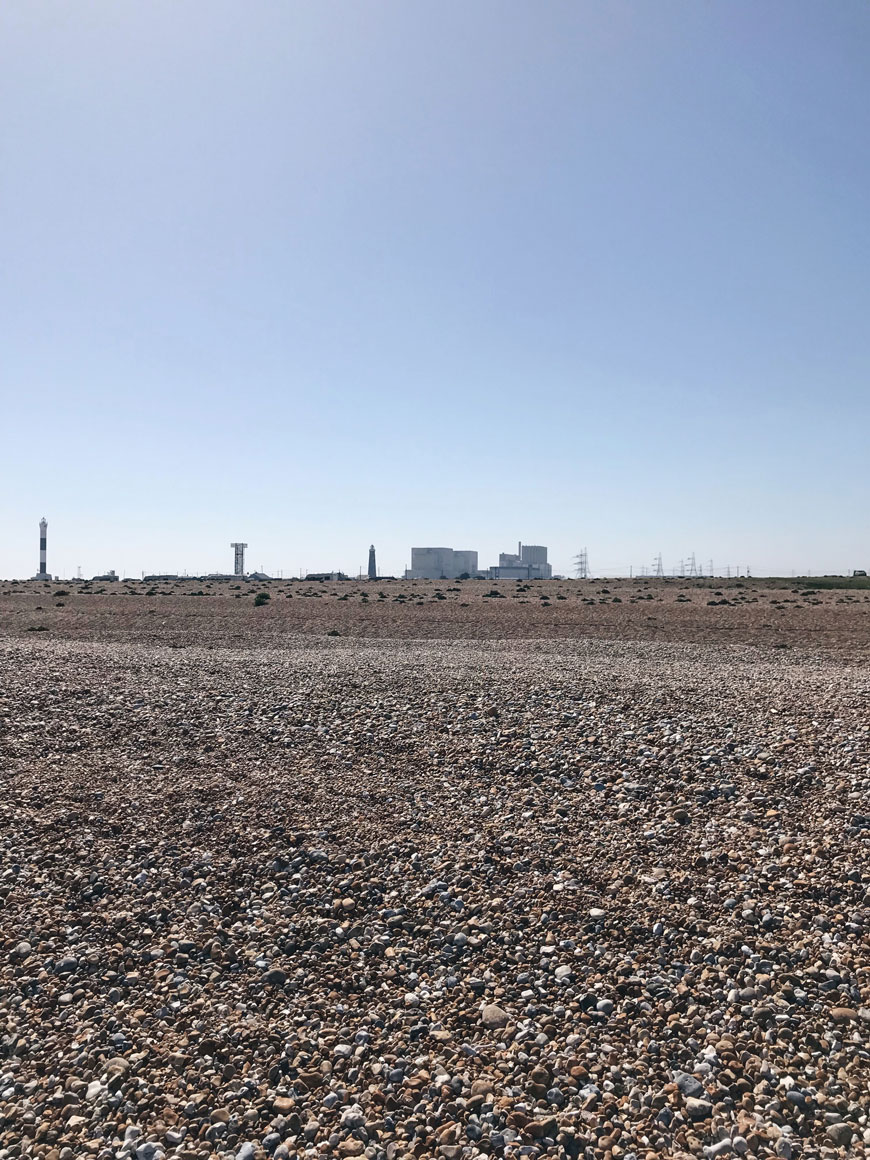 Dungeness Kent, Dungeness nuclear power station, shingle beach, The Fifth Continent, coastal wilderness, Kent coast