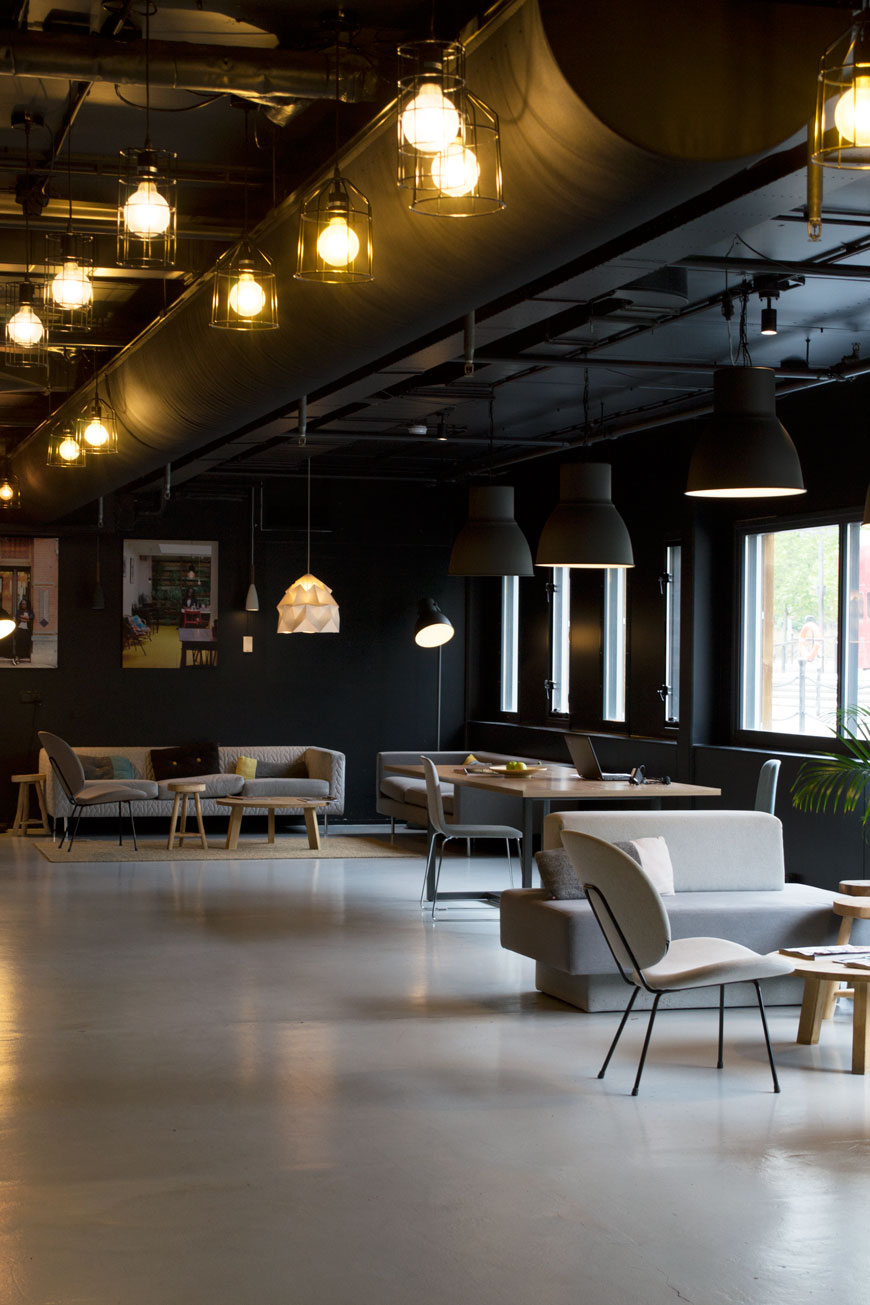 The industrial Dutch style gives the social spaces at Good Hotel London a feeling of pared-back luxury.
