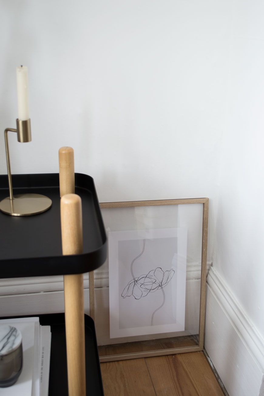 Minimalist art prints from Desenio adding the finishing touch to our Scandinavian inspired, Edwardian living room