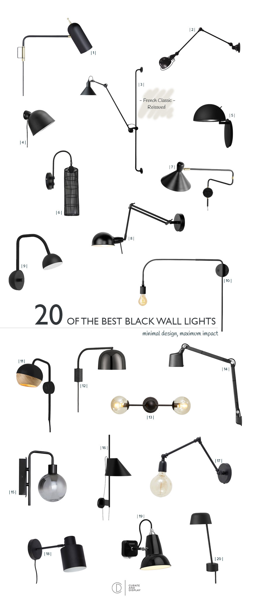20 of the best black wall lights ranging from budget to blow out!