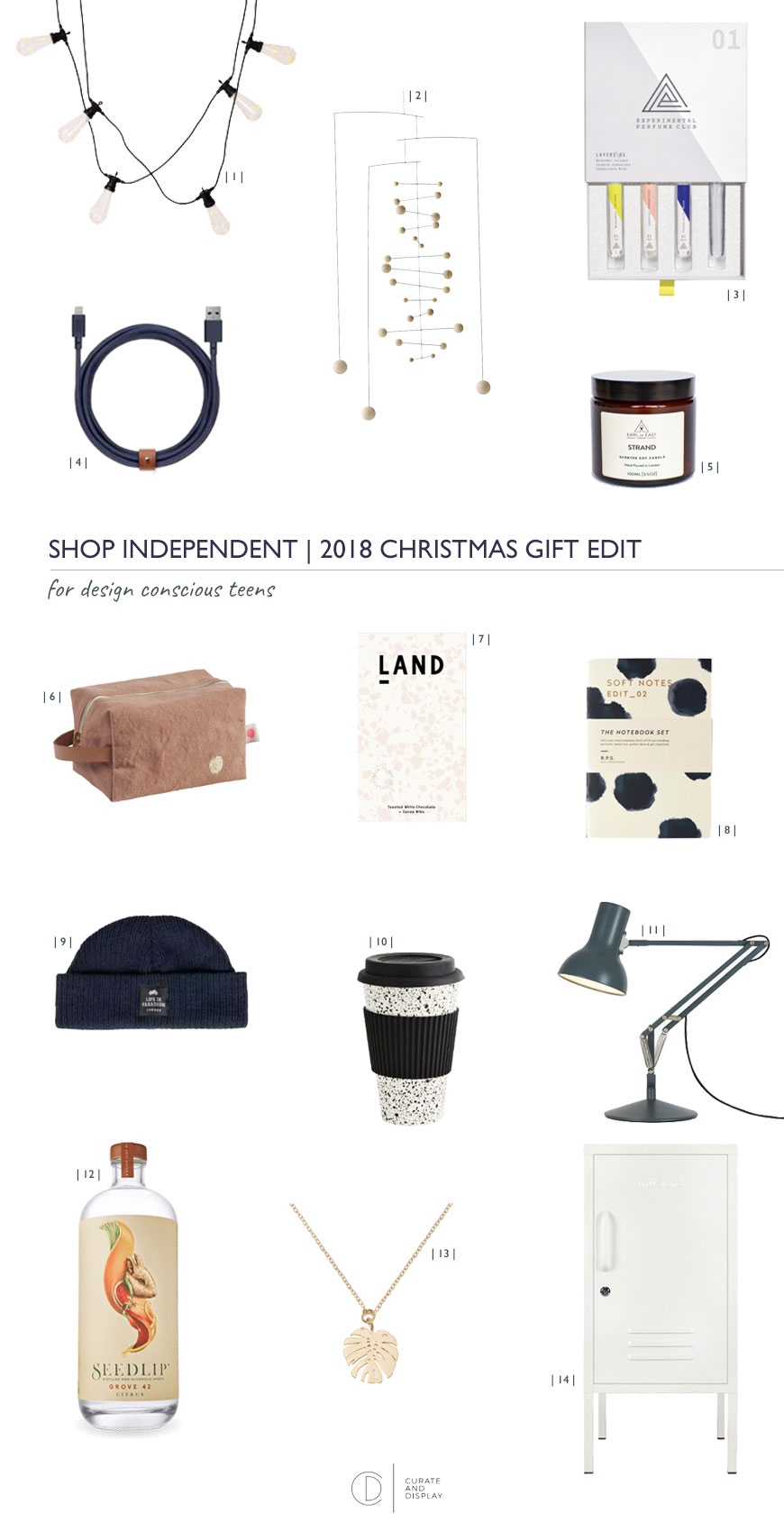 shop independent and support small shops in this Christmas gift guide for teens who are design conscious