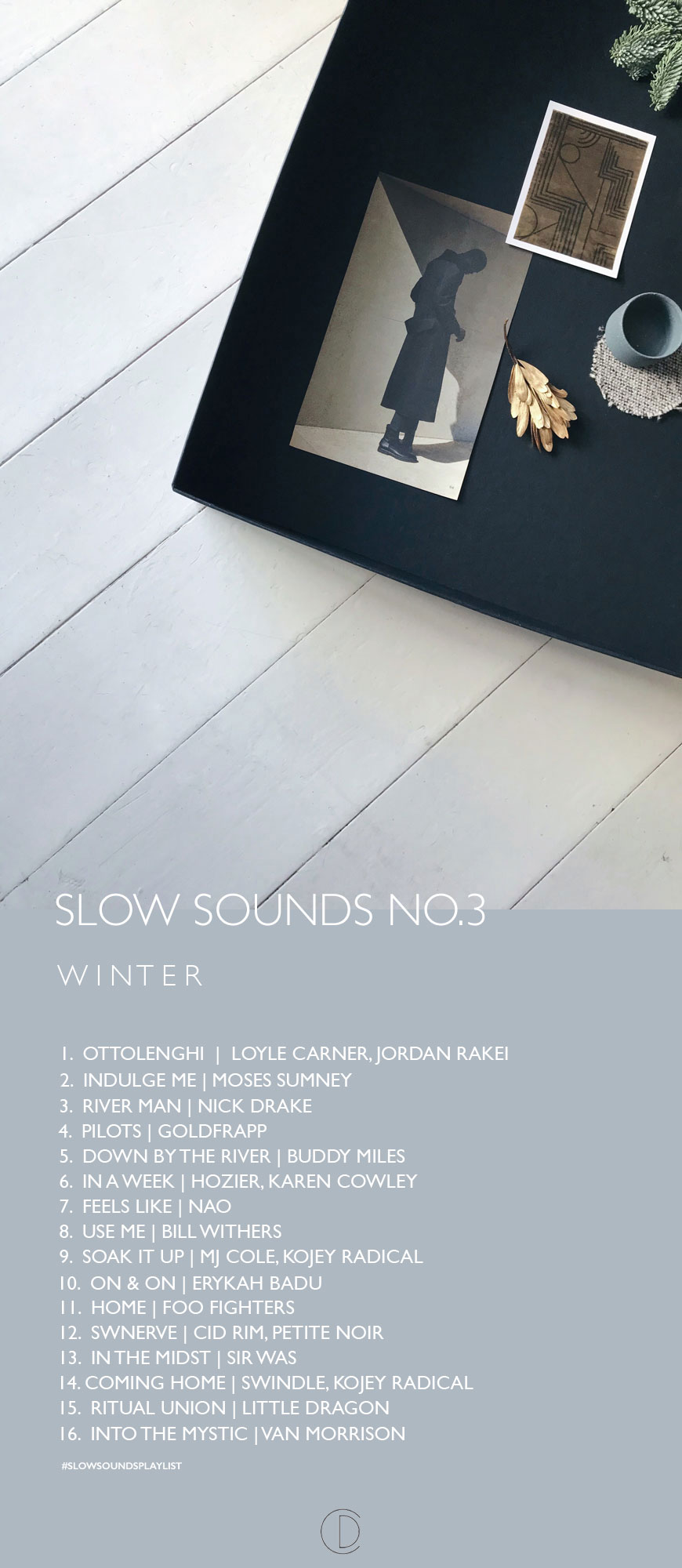 a Winter playlist for slow living, my 3rd and final soundtrack of the year 2018