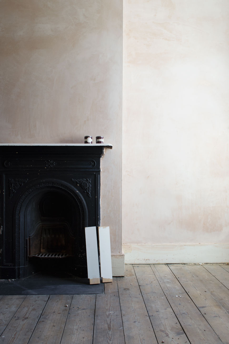newly plastered walls and bare floorboards are part of the process when it comes to slow decorating