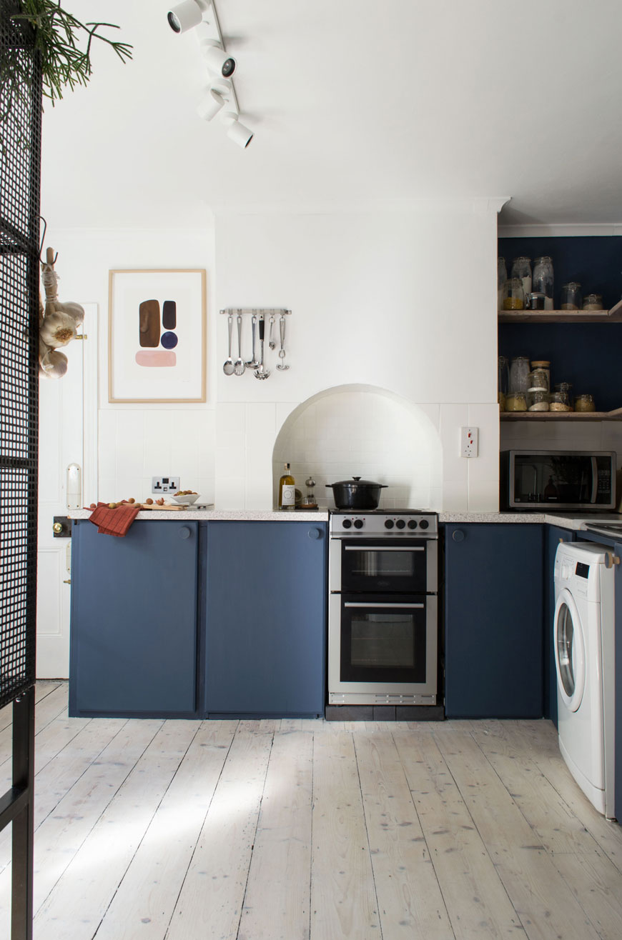 a bright white and blue kitchen refresh and the 6 things I've learnt about slow living