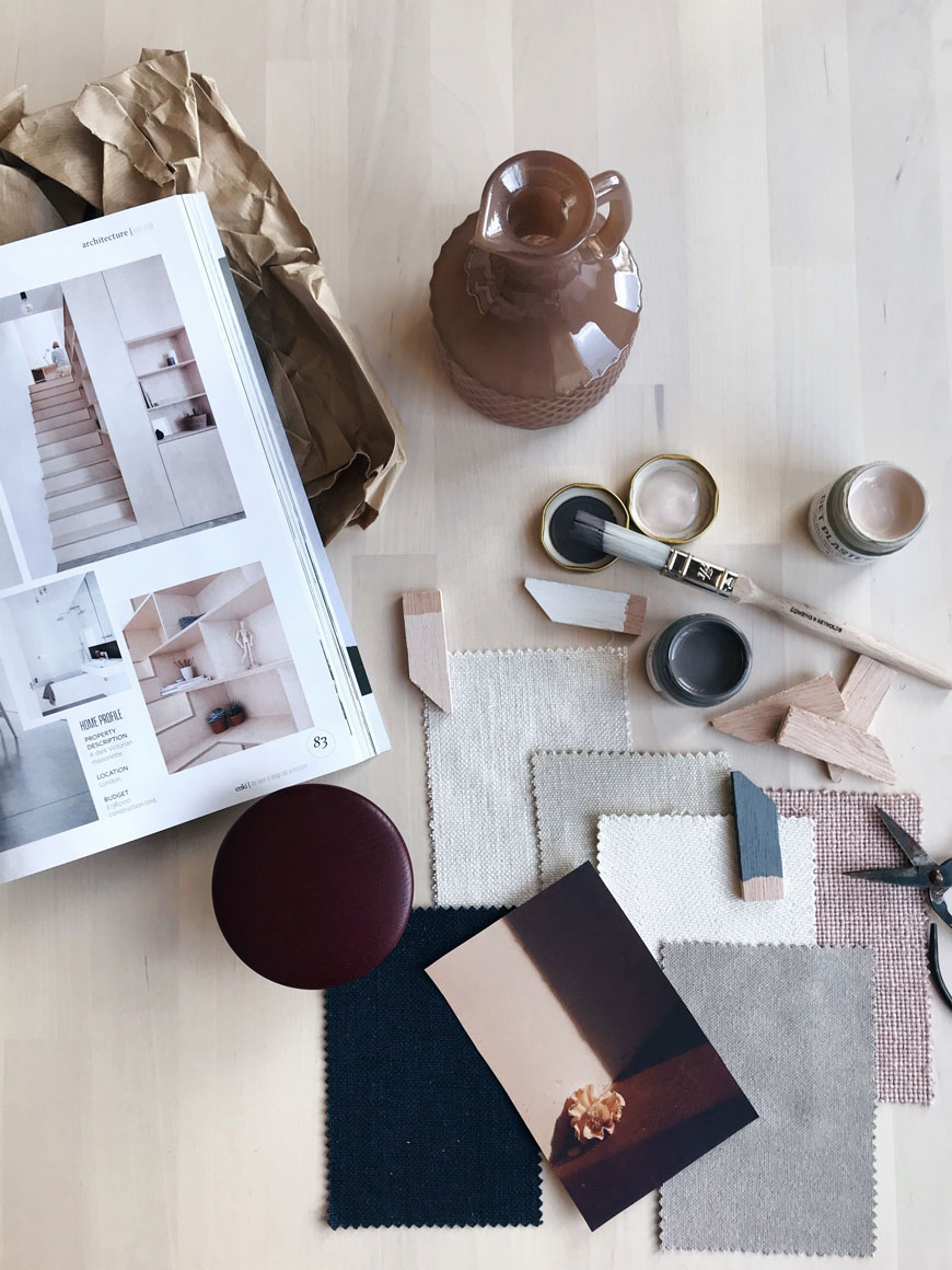Moodboarding and utilising paint swatches forms a large part of our slow decorating process