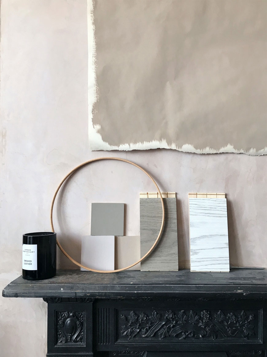Studying and living with swatches and samples is all part of the slow decorating process
