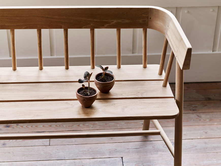 A beautifully crafted piece of outdoor furniture, the Bryon bench designed by Rowen and Wren.