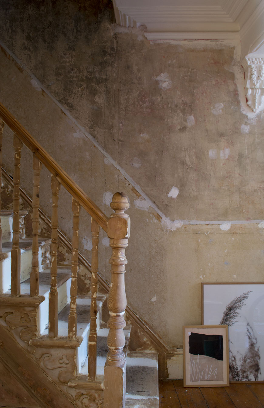 How to research the history of your house - inside the 116 year old hallway of our Edwardian home as we strip back layers of wallpaper and paint to reveal its bare bones.